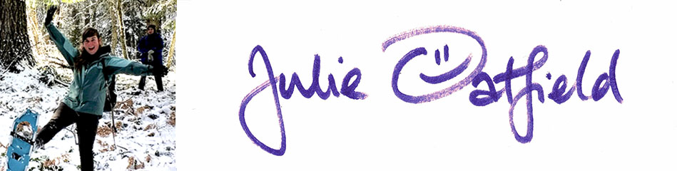 Julie's photo & signature