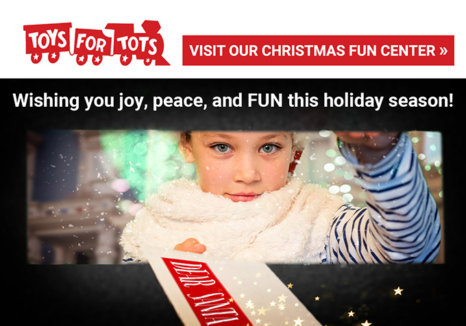 Marine Toys for TotsGiving Season - Visit our Christmas Fun Center
