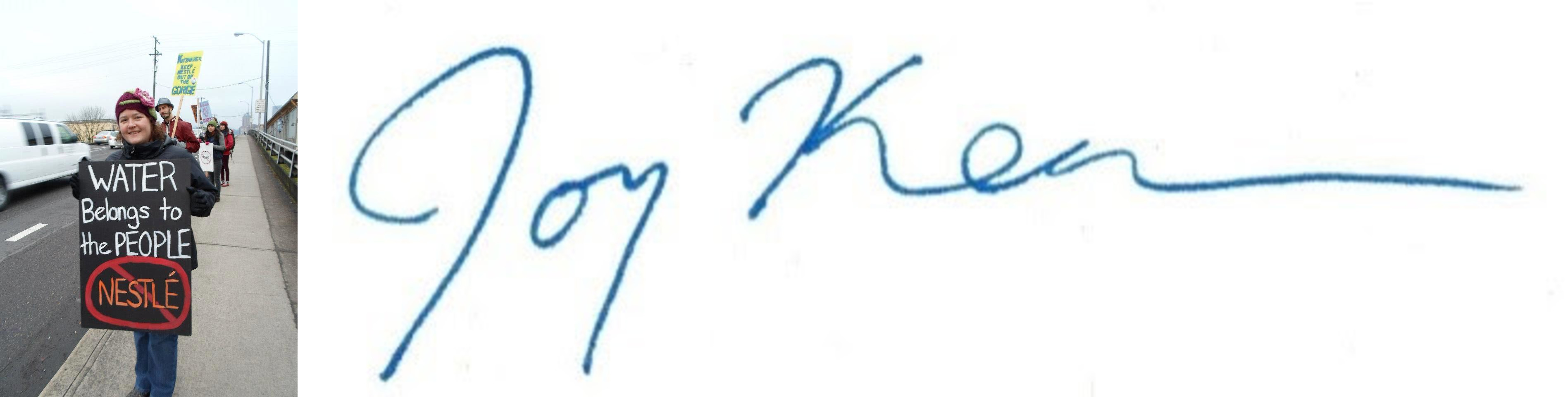 joy keen photo and signature