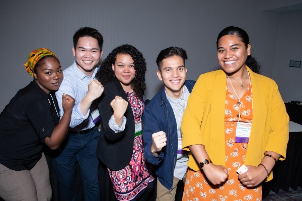Photo of BAHIP interns at an event.