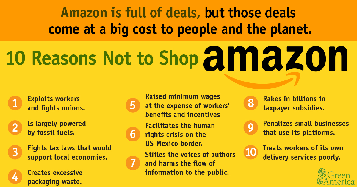 10 reasons not to shop Amazon