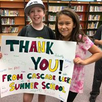Gratitude from the excellent Cascade Locks students.